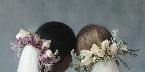 Hair, Headpiece, Bridal accessory, Bride, Clothing, Hair accessory, Dress, Wedding dress, Hairstyle, Shoulder,