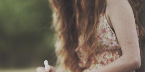 Beauty, Hand, Sitting, Photography, Dress, Tree, Adaptation, Long hair, Plant, Brown hair,
