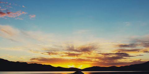 Sky, Reflection, Water, Nature, Cloud, Lake, Morning, Calm, Sunset, Horizon,