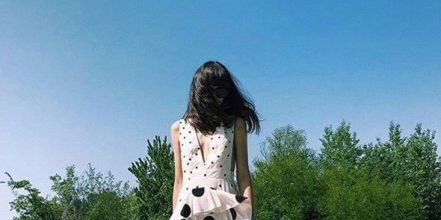 Clothing, White, Polka dot, Pattern, Dress, Street fashion, Fashion, Outerwear, Design, Footwear,