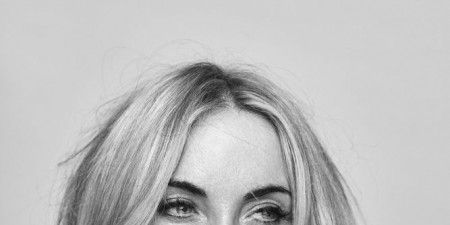Hair, Face, Eyebrow, Hairstyle, Lip, Chin, Blond, Nose, Black-and-white, Portrait,