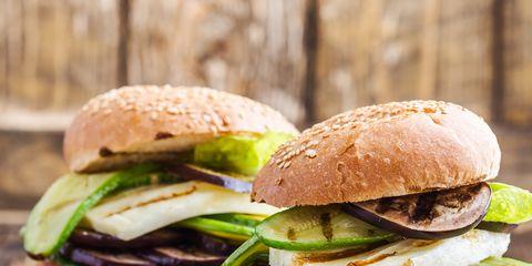 Food, Dish, Hamburger, Cuisine, Slider, Ingredient, Sandwich, Breakfast sandwich, Finger food, Produce,