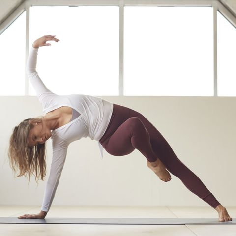 Physical fitness, Athletic dance move, Yoga, Shoulder, Arm, Joint, Leg, Stretching, Sportswear, Balance,