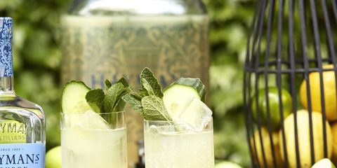 Drink, Alcoholic beverage, Lemonade, Lemonsoda, Gimlet, Paloma, Rickey, Distilled beverage, Food, Cocktail,