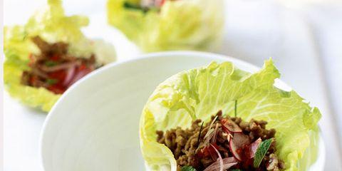 Food, Lemon, Citrus, Produce, Leaf, Leaf vegetable, Ingredient, Fruit, Dishware, Plate,