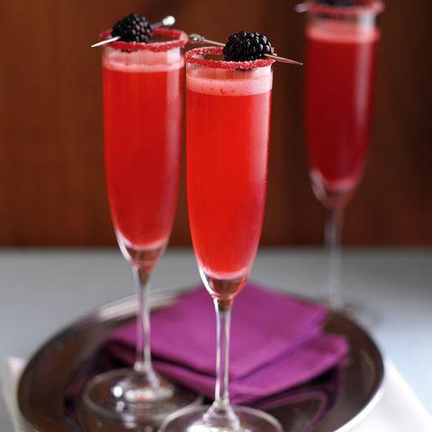 Drink, Juice, Non-alcoholic beverage, Alcoholic beverage, Cocktail, Food, Strawberry juice, Batida, Pink lady, Champagne cocktail,
