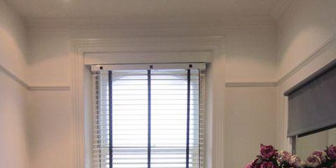 Room, Property, Interior design, Wall, Linens, Fixture, Interior design, Office equipment, Window treatment, Home appliance,