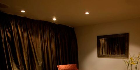 Bed, Lighting, Room, Interior design, Flowerpot, Textile, Bedroom, Bedding, Furniture, Bed sheet,