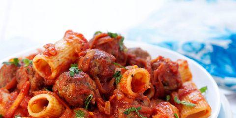 Pasta, Cuisine, Food, Ingredient, Dish, Recipe, Dishware, Al dente, Condiment, Plate,