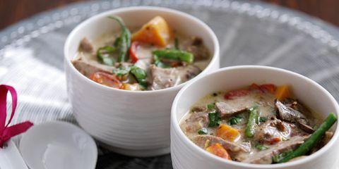 Serveware, Dishware, Food, Cuisine, Dish, Soup, Tableware, Recipe, Kitchen utensil, Cutlery,