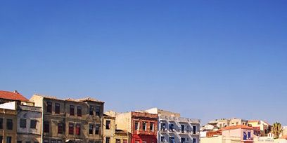 Blue, Town, City, Waterway, Reflection, Neighbourhood, Property, Architecture, Facade, Urban area,
