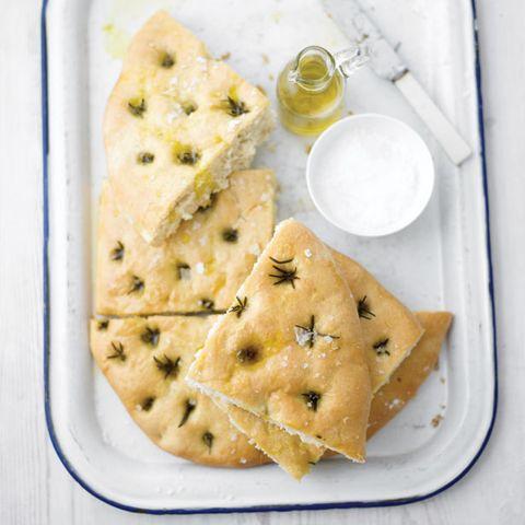 Food, Cuisine, Dish, Ingredient, Focaccia, Produce, Baked goods, Cracker, Snack, Recipe,