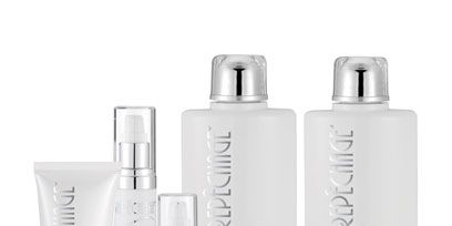 Liquid, Fluid, Product, White, Beauty, Cosmetics, Bottle, Tints and shades, Grey, Peach,