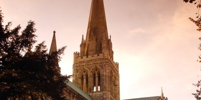 Spire, Steeple, Chapel, Medieval architecture, Place of worship, Turret, Cathedral, Evening, Arch, Holy places,