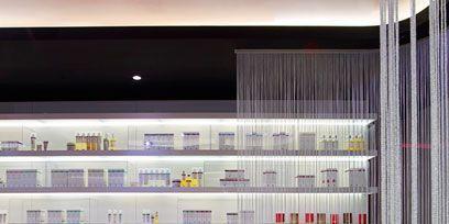 Interior design, Floor, Shelf, Shelving, Flooring, Parallel, Interior design, Publication, Transparent material, Book,