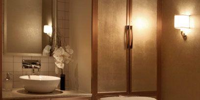 Lighting, Room, Interior design, Property, Wall, Floor, Bathroom sink, Plumbing fixture, Light fixture, Interior design,