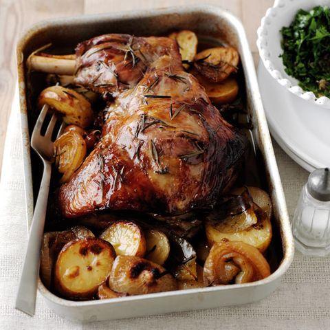Slow roast lamb