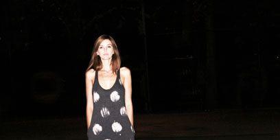Clothing, Dress, Style, Formal wear, Street fashion, Pattern, One-piece garment, Day dress, Midnight, Performance art,
