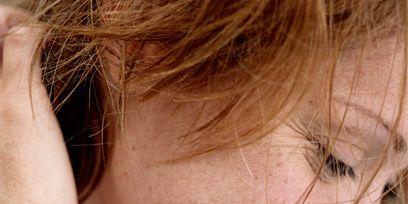 Lip, Cheek, Hairstyle, Skin, Chin, Forehead, Eyebrow, Happy, Eyelash, Facial expression,