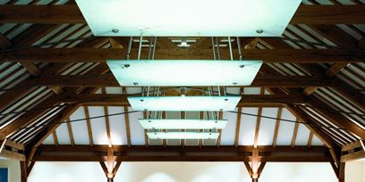 Ceiling, Daylighting, Fixture, Parallel, Iron, Beam, Handrail, Symmetry, Stairs, Baluster,