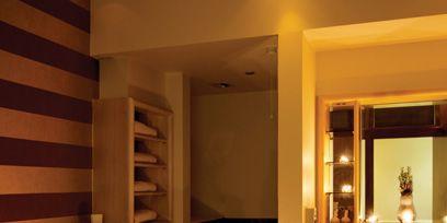 Lighting, Room, Property, Interior design, Wall, House, Elbow, Comfort, Mirror, Home,
