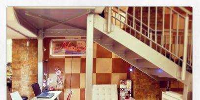 Interior design, Room, Floor, Stairs, Ceiling, Interior design, Shelving, Shelf, Home, Design,