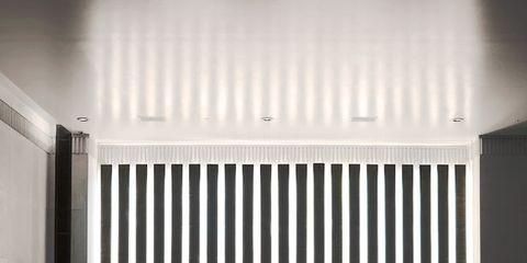 Floor, Flooring, Interior design, Line, Ceiling, Fixture, Hall, Reflection, Design, Tile,