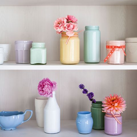 How To Make Jam Jar Vases Craft Ideas Arranging Flowers