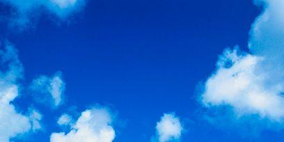 Blue, Sky, Daytime, Cloud, Atmosphere, Cumulus, Colorfulness, Electric blue, Aqua, Azure,