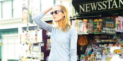 Clothing, Bag, Style, Street fashion, Fashion accessory, Fashion, Luggage and bags, Sunglasses, Retail, Snapshot,