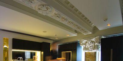 Lighting, Bed, Room, Interior design, Floor, Property, Textile, Bedding, Bedroom, Ceiling,