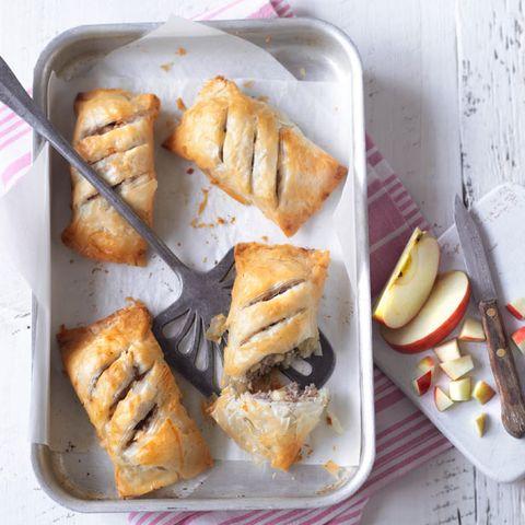 Apple and sausage filo roll recipe