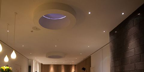 Lighting, Floor, Interior design, Flooring, Room, Ceiling, Wall, Interior design, Light fixture, Tile,