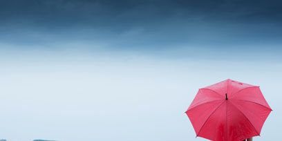 Umbrella, Pink, Sky, Beach, Red, Sea, Vacation, Ocean, Water, Summer,