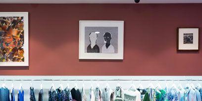 Retail, Clothes hanger, Collection, Picture frame, Boutique, Closet, Outlet store, Shelving, Fashion design, Shelf,