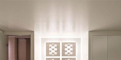 Architecture, Room, Floor, Property, Interior design, Wall, Fixture, Door, Design, Linens,