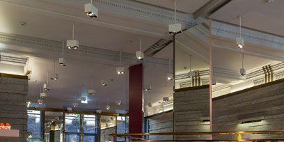 Lighting, Ceiling, Clothes hanger, Light fixture, Retail, Electricity, Outlet store, Boutique, Ceiling fixture, Collection,
