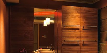 Lighting, Wood, Room, Interior design, Bed, Property, Hardwood, Wall, Floor, Bedding,
