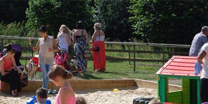Fun, Public space, Pink, Child, Leisure, Summer, Dress, Toddler, Play, Human settlement,