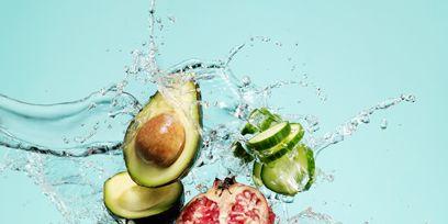 Food, Ingredient, Natural foods, Produce, Leaf vegetable, Liquid, Garnish, Fruit, Food group, Tableware,