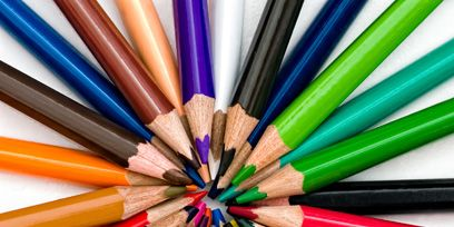 Colorfulness, Stationery, Office supplies, Writing implement, Material property, Close-up, Pencil, Collection, Cable, Wire,