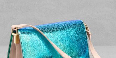 Blue, Textile, Teal, Turquoise, Bag, Aqua, Azure, Electric blue, Shoulder bag, Strap,