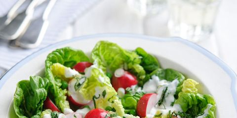 Food, Salad, Leaf vegetable, Vegetable, Cuisine, Ingredient, Produce, Dishware, Garden salad, Tableware,
