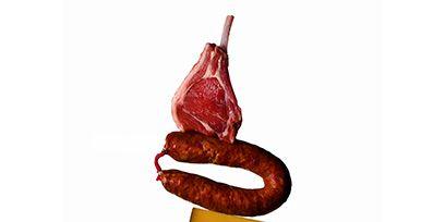Ingredient, Meat, Sausage, German food, Frankfurter würstchen, Debrecener, Morteau sausage, Cervelat, Produce, Still life photography,