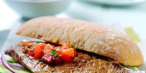 Food, Ingredient, Meat, Dishware, Dish, Tableware, Cuisine, Plate, Finger food, Garnish,