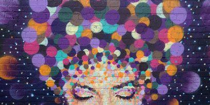 Colorfulness, Style, Art, Violet, Purple, Pattern, Orange, Modern art, Space, Eyelash,