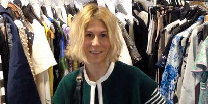 Sleeve, Textile, Retail, Clothes hanger, Sitting, Fashion, Market, Boutique, Electric blue, Outlet store,