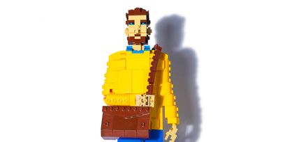 Standing, Lego, Toy, Electric blue, Cobalt blue, Animation, Fictional character, Figurine, Graphics, Action figure,