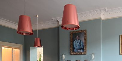 Room, Interior design, Floor, Furniture, Lampshade, Table, Wall, Light fixture, Ceiling, Chair,