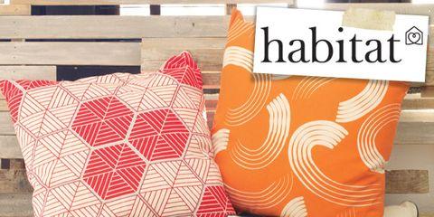 Textile, Pattern, Orange, Cushion, Throw pillow, Pillow, Home accessories, Linens, Peach, Design,